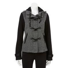 Sebby Hooded Mixed-Media Jacket - Women's