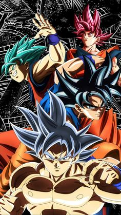 Goku& transformations throughout Dragon Ball Super - Dragon Ball Z, Goku Transformations, Goku Y Vegeta, Goku Vs, Anime Merchandise, Dbz Characters, Animes Wallpapers, Anime Art, Illustrations Posters