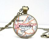*K-Town* Knoxville Map Necklace : Tennessee | Lizabettas