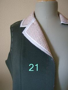 Tailoring Methods, hand stitched lapels