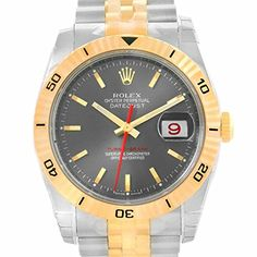 Men's Certified Pre-Owned Watches - Rolex TurnOGraph automaticselfwind grey mens Watch 116263GYSJ Certified Preowned -- Check out this great product. (This is an Amazon affiliate link)