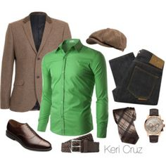 Men's Style. Like the green