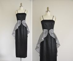 60s dress / 1960s vintage dress / black and by simplicityisbliss, $224.00