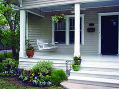 Small front porches, farmhouse front porches, screened in porch, country po Farmhouse Front Porches, Small Front Porches, Covered Front Porches, Screened In Porch, Farmhouse Door, House Porch Design, Front Porch Design, House With Porch, Porch Designs