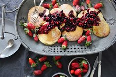 Oat Pancakes with Ligonberry Blackcurrant Maple Syrup – SIMPLY BEAUTIFUL EATING