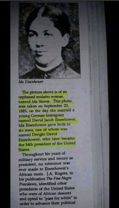 President Eisenhower was a Black man according to the one drop rule .