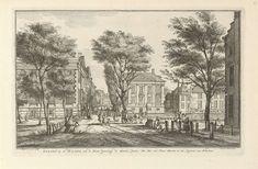 Gezicht vanaf de Korte Vijverberg te Den Haag, Paulus Constantijn la Fargue, Pieter Gerard van Balen, 1647 - 1665
