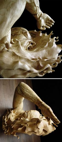 Figurative Wooden Sculptures Show Expression and Movement Larger than Life  http://www.thisiscolossal.com/2015/06/figurative-wooden-sculptures-show-expression-and-movement-larger-than-life/