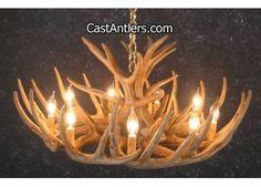 Whitetail 12 Cast Cascade Antler Chandelier $383