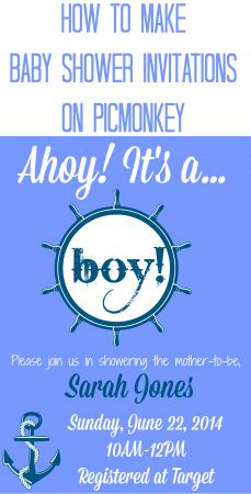 How to Make Baby Shower Invitations With PicMonkey - Save money and create your own custom Baby Shower Invitations.
