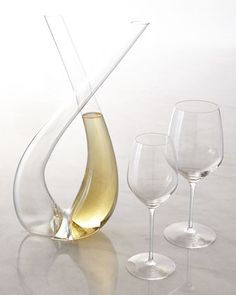 "Expert ""X"" Decanter & ""Y"" Wine Glasses by Rogaska at Neiman Marcus."