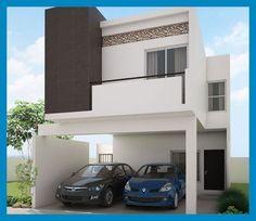 Fachadas Contemporáneas: dos pisos #modelosdecasasdedospisos