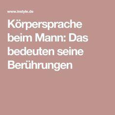 berührungen eines mannes deuten deutsch