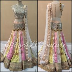 Summer Sorbets, lehenga by MischB Couture
