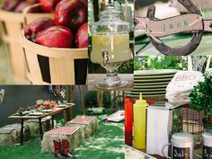 Backyard Barbecue Inspiration >> http://blog.diynetwork.com/maderemade/2013/06/06/from-beachy-to-barbecue-party-themes-for-outdoor-entertaining/?soc=pinterest
