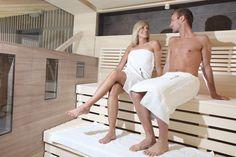 sauna bij het zwembad