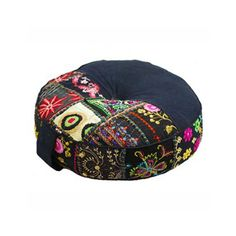"""Harmonious Balance Pouf in Black 