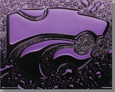 "loving this k-state powercat poster by kevin robel...since we went fancy and gave up that ""college dorm"" look in our decor quite a few years back, I'll just have to pin it and enjoy it here! :)"