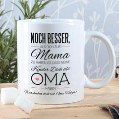 Das passende Geschenk zum Muttertag zu finden ist manchmal gar nicht so einfach! - Mit dieser tollen Keramiktasse bereiten Sie Ihrer Oma zum Muttertag eine ganz besondere Freude.