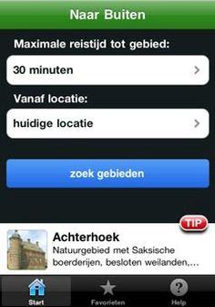 Naar buiten app: welk natuurgebied is in de buurt?