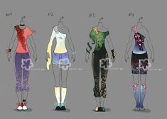 Colorful Outfits #10 - sold by Nahemii-san on DeviantArt