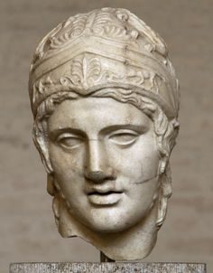Head of Ares. Marble. After a cult statue by Alkamenes from the temple of Ares…