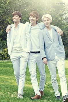 Kai, Chanyeol, and Sehun for Nature Republic... Why must they be so freaking adorable all of the time? I just wanna squish their cheeks and hug them. :3