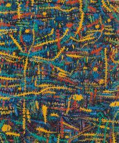 Gunter Damisch, Weltwegineinander, 1998, Öl auf Leinen © Landessammlungen Niederösterreich City Photo, Art, Linen Fabric