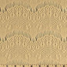 Fabric.com Designer Deco Lace Antique Cream