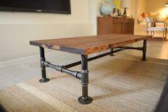 industrial cart coffee table diy - Google Search
