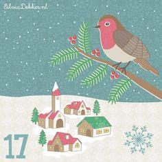Christmas advent December 17 by Silvia Dekker