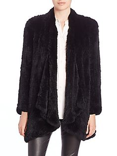 H Brand Ashleigh Rabbit Fur Jacket now available at Saks Fifth Avenue  #Hbrandfur