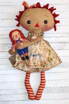I Love Andy Doll Set  Primitive Raggedy Ann by HeartstringAnnie
