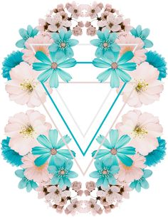 Future flower print on Behance