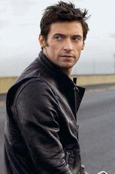 Hugh Jackman.  Black leather.  Motorcycle.  S.E.X.Y.