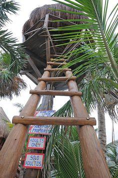 Private Tree House Bar - La Buena Vida Hotel Bar, Akumal, Quantana Roo, Mexico
