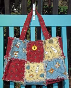 One of my favorite rag quilt bags!