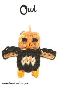 Owl loom band tutorial - LoomBand