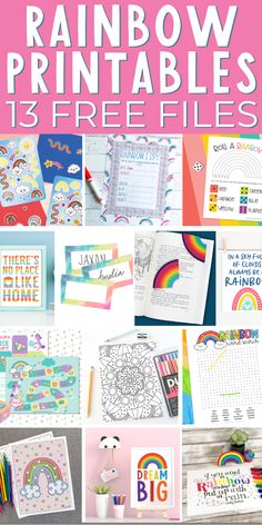 These free rainbow printables are perfect for kids and adults! Print games, art for your home, and so much more! #rainbow #printables #freeprintables Rainbow Words, Rainbow Quote, Rainbow Art, Rainbow Unicorn, Rainbow Colors, Free Printable Art, Free Printables, Rainbow Games, Country Chic Cottage
