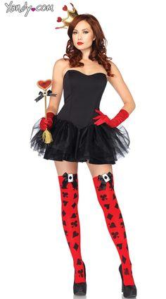 Red Queen Costume Kit, Queen of Hearts Kit, Adult Queen Costume Kit
