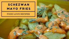 Schezwan Sauce, French Fries, Mayonnaise, Love Food, Dip, Food To Make, Channel, Texture, Youtube
