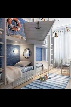 Nautical a freaking boat coming out of the wall genius #homedecor