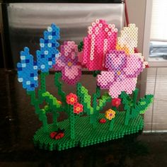 I made a 3D flower garden for Mother's day