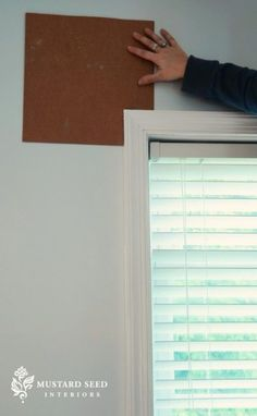 This is an excellent way to make sure all window treatments are hung the same throughout the home.