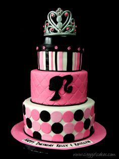 Barbie Cake-Kember's favorite!!! oh Lord, this is the cake she wants. we shall see.