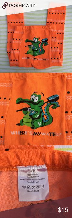 Doodle Pants Alligator Baby Leggings NWT Size L⭐️ Doodle Pants Orange Alligator Baby Leggings NWT Size Large ⭐️super cute for photos-these retail New for $25! I have many in my closet-so bundle for a great deal! doodle pants Bottoms Leggings