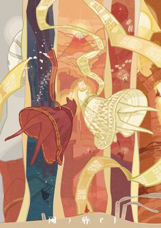 Journey by maruco<<<< A red cloak and a white cloak on a journey together~ They are cute creatures too~
