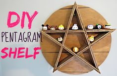 DIY PENTAGRAM SHELF #31DAYSOFJAMOWEEN