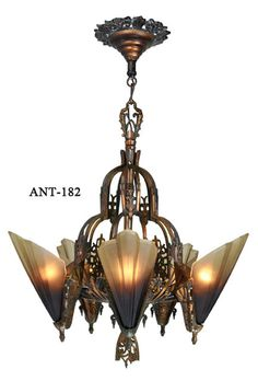 art deco lighting | Vintage Hardware & Lighting - Antique Lighting, Antique Art Deco Slip ...