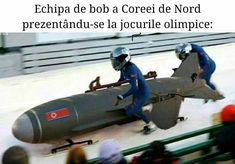 Image: Olympic Officials Admit Concern Over North Korean Bobsleigh. Bobsleigh, Sarcasm Meme, Military Memes, Bad Memes, History Memes, Winter Olympics, North Korea, The Funny, Funny Jokes